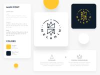 Melanin Minimal Brand Guide type minimal icon typography vector design logo illustration branding