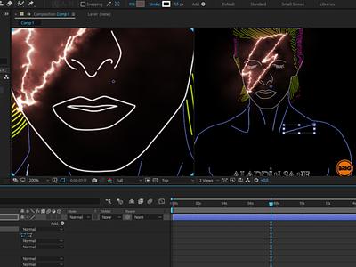 Motion art - David Bowie / Alladin Sane artwork animation motion graphic design motion graphics motion art
