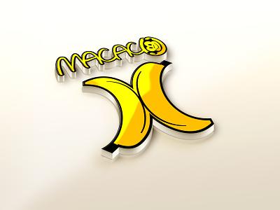 logo logotipo marca logomarca design criação arte banana monkey