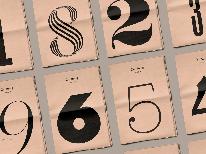Xiuxiueig numbers newspaper editorial design editorial design typography identity branding