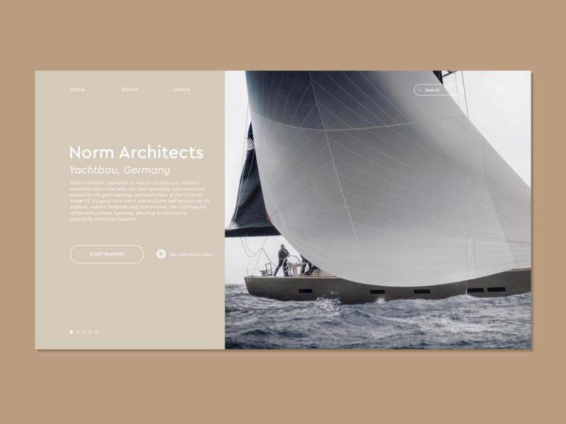 Norm Architects | Yachtbau Website yachting yacht design uidesign ui webdesign website