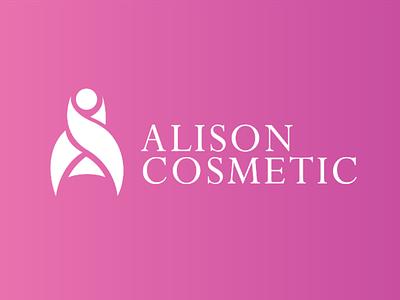 Logocore challenge - Alison cosmetic cosmetics creative minimalist flat brand logo logocore