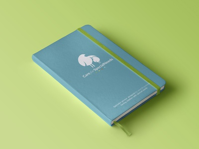 Care for Special Needs notebook notepad identity logotype logo graphic design design branding