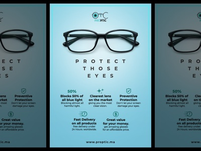 Flyer design for Eyewear company. blue poster designer poster a day posters poster design poster layout design layout flyer design template flyer designs flyer artwork flyer template flyer designer flyer design flyers glasses eyewear flyer