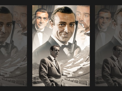 Sir Sean Connery 007 A4 Poster photoshop marvel fan artist fan artwork fanart fan art photoshop edit digital artwork photoshop editing digital art poster challenge posters poster designer poster design poster a day poster art poster a4 poster 007