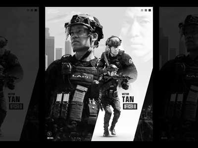 S.W.A.T. CBS 4x5 poster design digital artist digital art poster art movie poster poster challenge poster a day posters rahalarts poster designer poster black and white tv series cbs cops police swat