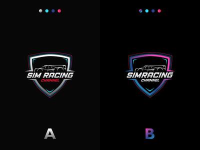 Sim Racing Channel logo design