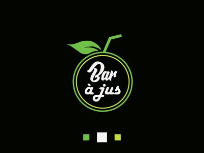 orange juice bar logo design