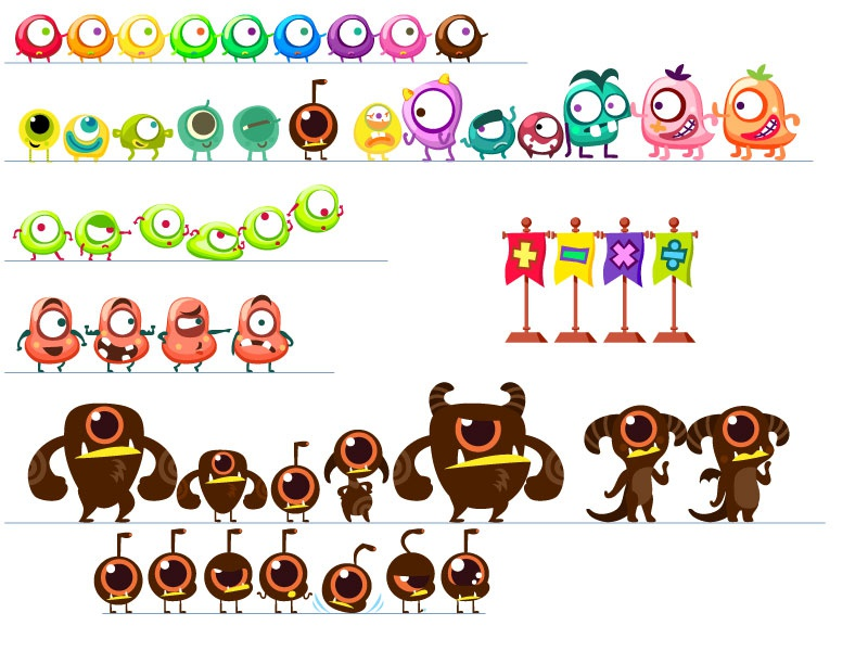 Game character design design character drawing game illustration kid children