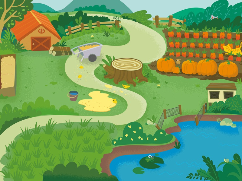 Map of toys-2 game kid children drawing illustration