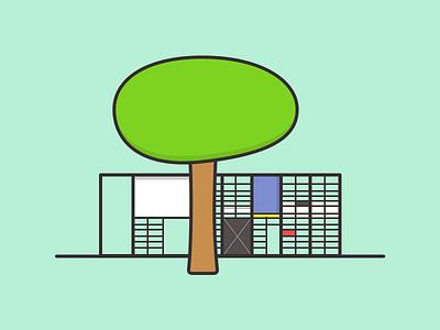 Eames House illustration sketch