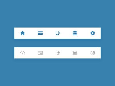 Bank App Tab Bar apple bottom navigation finance banking icons ios design mobile design ux ui design vector outline icon sketch