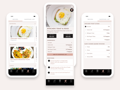 Recipes Section - Food Diary App