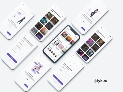Music App - WIP app design music app illustration dribbble black uiux