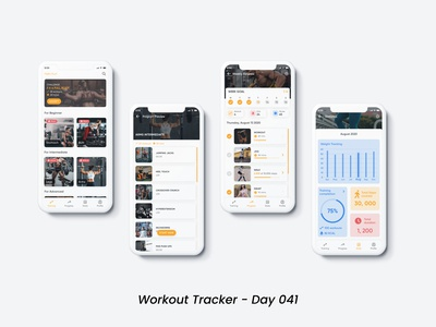 Workout Tracker (Day 041) dribbble mobile app figmadesign design app dailyui ui design ui uiux app design workout app workout tracker