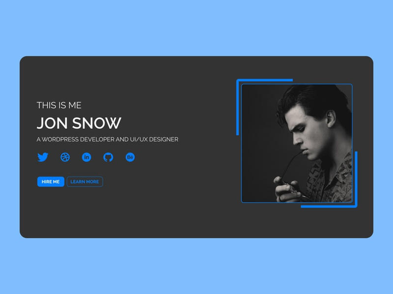 Hero Section web design portfolio ui design blacktheme figmadesign uiux dribbble
