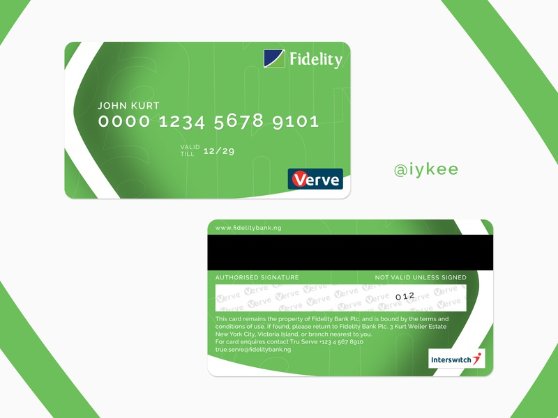 Card Design logo branding design ui uiux ui design dribbble figmadesign card fidelity bank