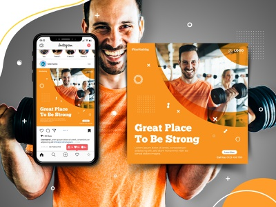 Social Media Post Design experienced designer promotional ads attractive eye-catchy facebook cover instagram story ads gym advertisement workout gym branding graphic design modern professional advertisement instagram ads facebook ads business promotion abubakor242