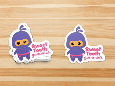 Sweet Tooth Gummies - Logo Stickers