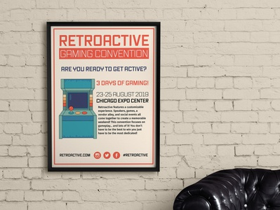 Retroactive Gaming Convention Poster