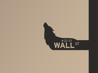 The Wolf of Wall Street wallstreet wolf logo vector illustration graphic design illustrator dribbble weekly warm-up dribbble flatdesign design