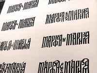 Marfa&Mary logo sketches