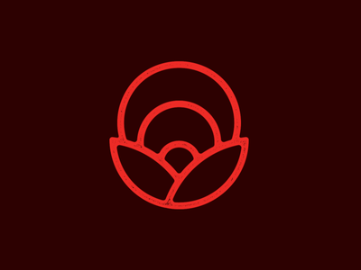 Little Nature Mark designer brown orange symbol mark clean simple nature logo texture logo earth sun nature vector design
