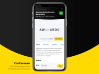Mobile App — Conferenzo / Conference Event Page