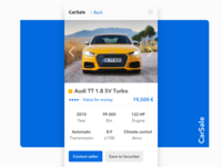 Mobile App — Auto Dealership / Car Product Page