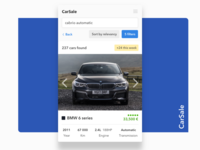 Mobile App — Car Sale / Search Results