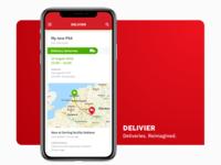 Delivier — delivery track mobile app / Details page