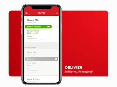 Delivier — delivery track mobile app / List page