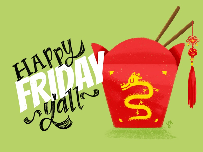 Friday Noodles food noodle friday illustration