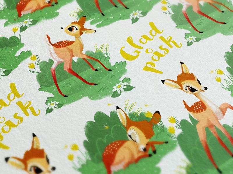 Easter Pattern bambi illustration pattern design pattern easter