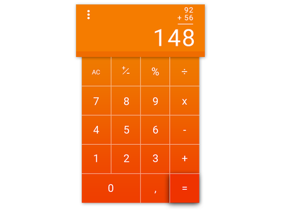 DailyUI - 004 Calculator calculator redesign dailyui ui