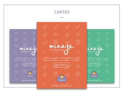 Minaya Card brand baby student school print