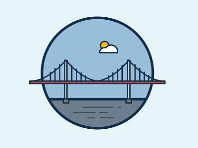 Pont d'Aquitaine bridge student illustration french design bordeaux