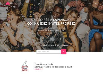 Spreez Landing brand party webdesign landing project startup