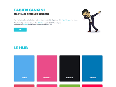Redesign personnal website  portfolio student ux designer french webdesign