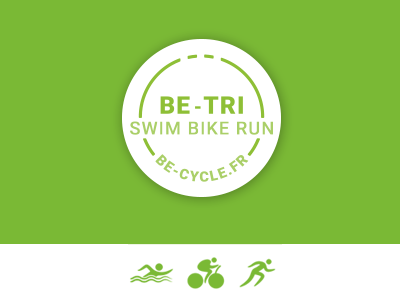 Be Tri Logo sport triathlon run bike swim french blog brand logo