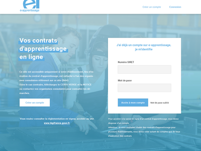 E-apprentissage redesign desktop ui webdesign redesign