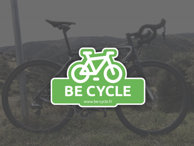 Be-Cycle for StickerMule  brand bike blog sticker