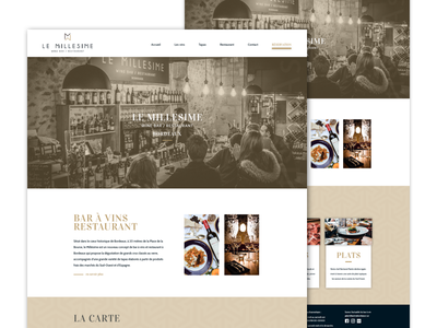Wine bar website redesign  bordeaux food restaurant website web ux ui shop product landing homepage