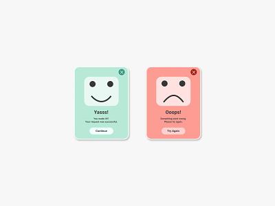 Daily UI #009 - Pop up Message face error message delightful popup window color minimal visual design dailyui ui