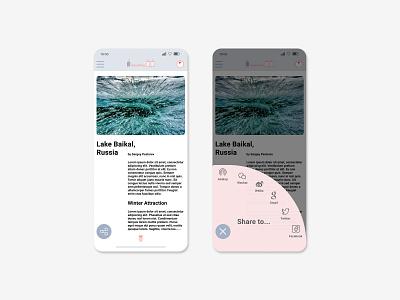 Daily UI #010 - Social Share branding ios mobile travel socialshare color minimal design dailyui ui