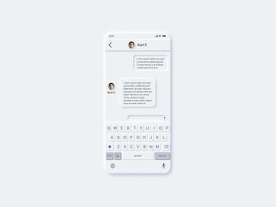 Daily UI #013 - Direct Message direct messaging figma neo skeuomorphism visual design minimal design dailyui ui