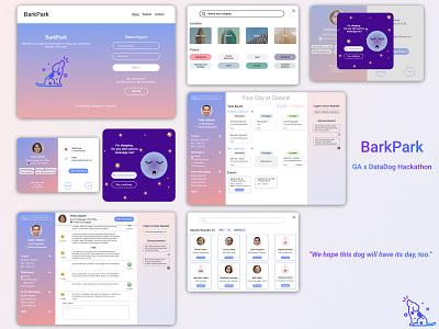 GA x DataDog Hackathon - UI Design illustration gradient communication app profile page search engine dashboard webapp design delightful color visual design ui