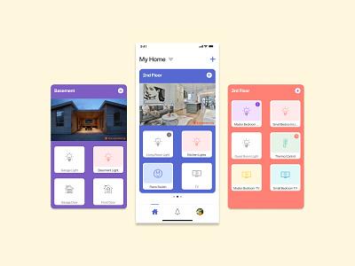 Daily UI #21   Home Monitoring Dashboard mobile ui home monitoring dashboard ux figma delightful minimal design color dailyui visual design ui