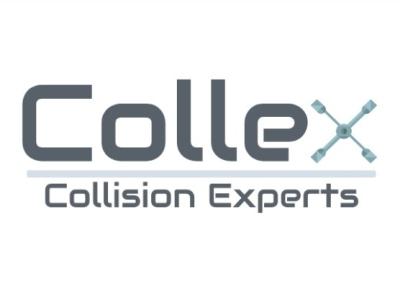 Collex Collision Experts Logo silver grey mechanics logo mechanical car logo logo