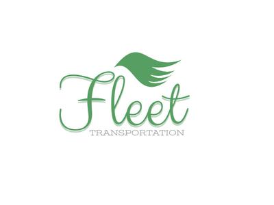 Fleet Transportation Logo grey trucking transportation bird green logo